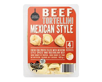 World Kitchen Beef Tortellini Mexican Style 625g