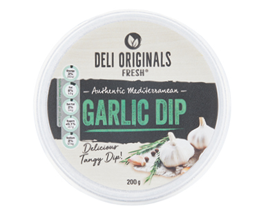 Deli Originals Fresh Garlic Dip 200g