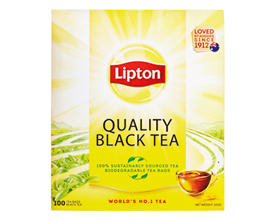 Lipton Quality Black Tea Bags 100pk/200g
