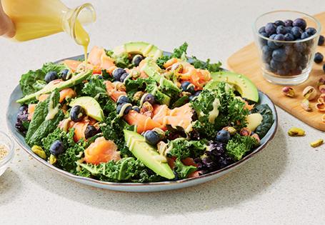 Smoked Salmon, Kale and Blueberry Salad ALDI Australia