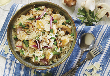 Chicken Mushroom Pea Risotto Recipe Aldi Australia