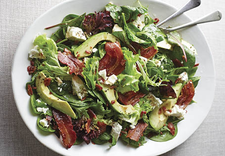 Streaky Bacon, Feta Cheese & Avocado Salad ALDI Australia