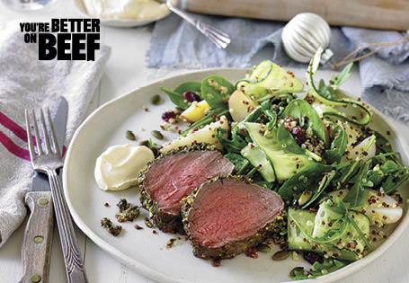 Herb And Honey Mustard Roast Beef With Festive Potato Salad And Horseradish Cream Sauce Aldi Australia