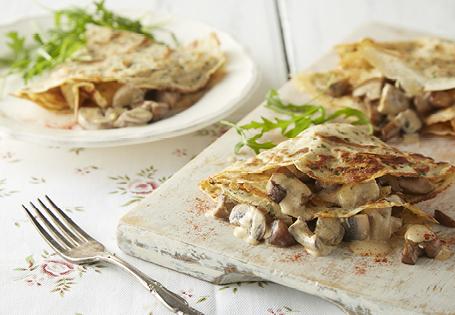 Mushroom Soft Cheese Pancake Recipe Aldi Australia
