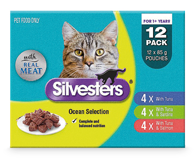 Silvesters Cat Food 12x85g