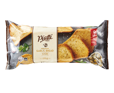 Piatti Fresh 9 Slice Garlic Bread 270g