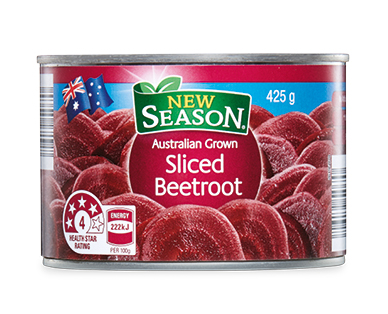 New Season Australian Sliced Beetroot 425g
