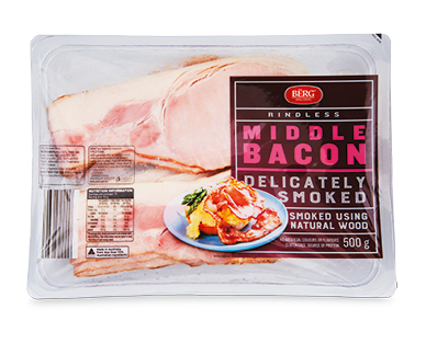 Berg Rindless Middle Bacon 500g