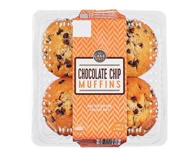The Cake Stall Muffins Chocolate Chip 4pk