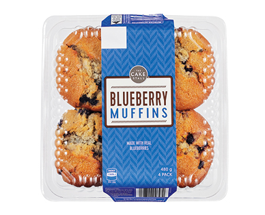 The Cake Stall Muffins Blueberry 4pk