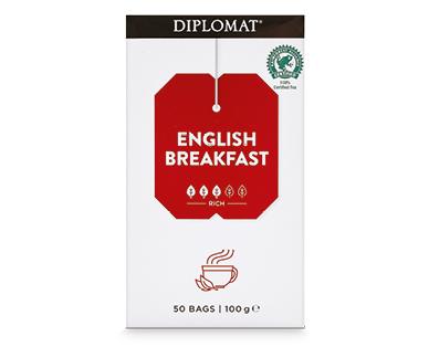 Diplomat Tea Bags English Breakfast 50pk/100g