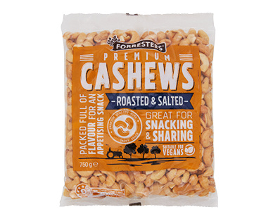 Forresters Cashews - Roasted and Salted 750g