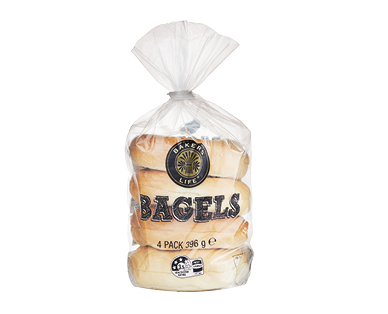 Bakers Life Bagels 396g/4pk