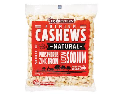 Forresters Raw Cashews 750g
