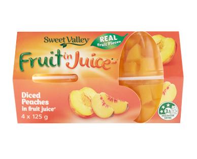 Sweet Valley Fruit Snacks in Juice 500g