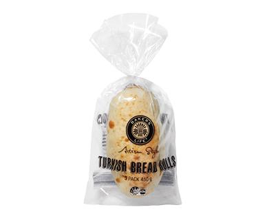 Bakers Life Turkish Rolls 3pk/450g
