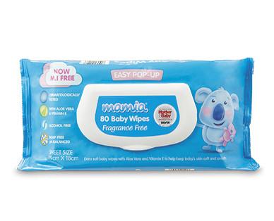 Mamia Baby Wipes 80pk