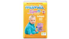 Mamia Infant Unisex Nappies 4-8kg 60pk
