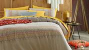 Ikat Embellished Quilt Cover Set - King Size