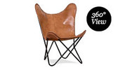 Leather Replica Butterfly Chair