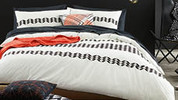 Geo Embellished Quilt Cover Set - Queen Size