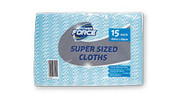 Super Sized Cloth Wipes 15pk